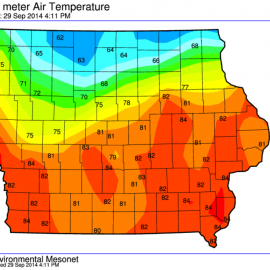 Iowa High Temperatures
