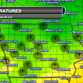 Iowa Thursday High Temperatures