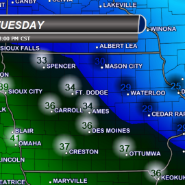 Iowa Highs Tuesday Temperatures