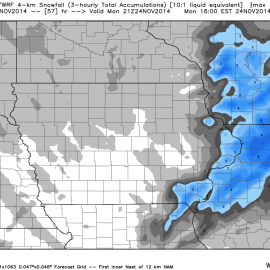 Iowa WRF Snowfall Totals