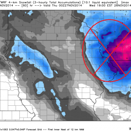 WRF Accumulated Snowfall