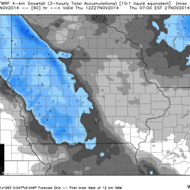 WRF Snowfall Totals
