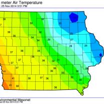 Iowa High Temperatures