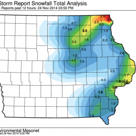 Iowa Snowfall Totals