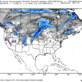 GFS 00Z Snowfall